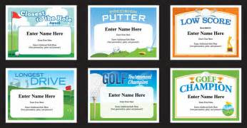 golf certificates templates golfer awards recognition