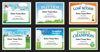 Golf Certificate Template by Golf Certificates Templates Recognition And Awards For