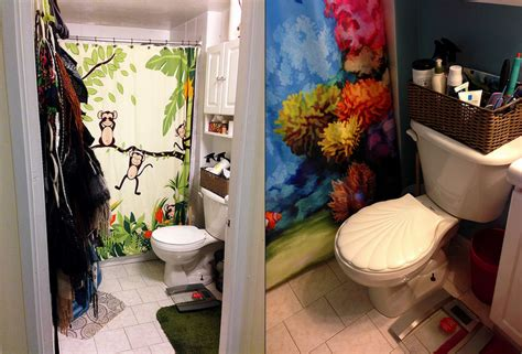 under the sea bathroom bathroom renovation from jungle to under the sea