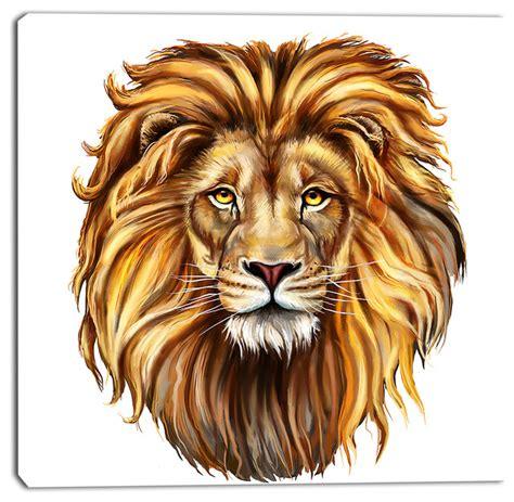 lion print king lion aslan animal canvas art print modern fine