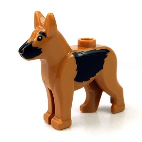 Lego Animal Accessories lego accessories animals medium flesh german shepherd with black muzzle sides