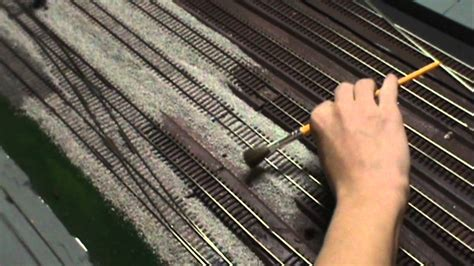 how to a tracking how to quickly ballast model track