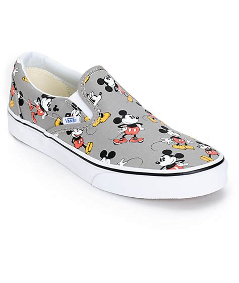 Vans Mickey Mouse disney x vans slip on mickey mouse skate shoes