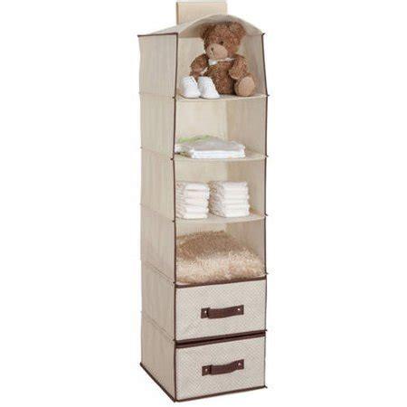 delta children 6 shelf hanging storage unit with 2 drawers