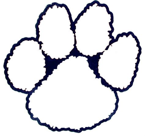 tiger paw template tiger outlines coloring pages