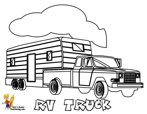 coloring page big truck big trucks coloring pages az coloring pages