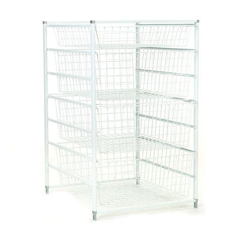 Closetmaid Metal Drawers Shop Closetmaid 17 75 In X 29 318 In 4 Drawer White Metal