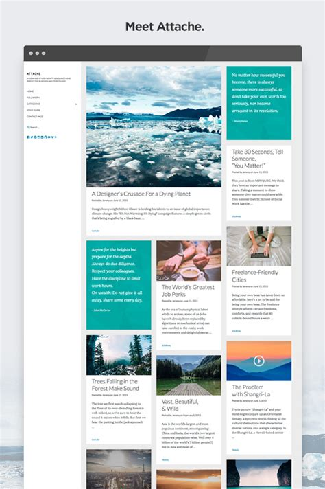 html themes nulled nulled theme attache infinite scrolling wordpress theme