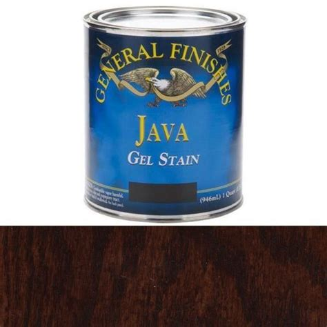 java gel stain colors buy general finishes java gel stain quart at woodcraft