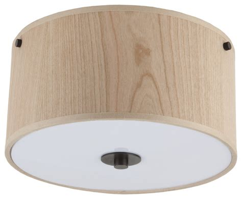 Linen Flush Mount Ceiling Light by 10 Quot Flushmount In Rubbed Bronze Finish With