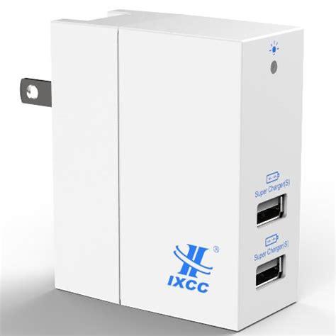 Usb Power Adaptor 4 Port 20watt ixcc dual usb 4 2a 20w smart ac high speed travel wall