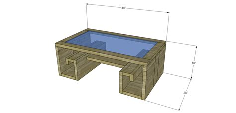 Build A Key Coffee Table With A Glass Top