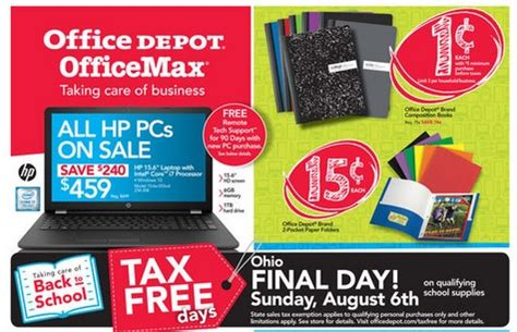 Office Depot One Cent Sale Office Depot Back To School Deals Composition Books