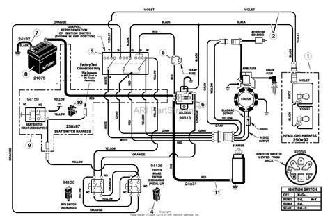 murray xa lawn tractor  parts diagram  electrical system