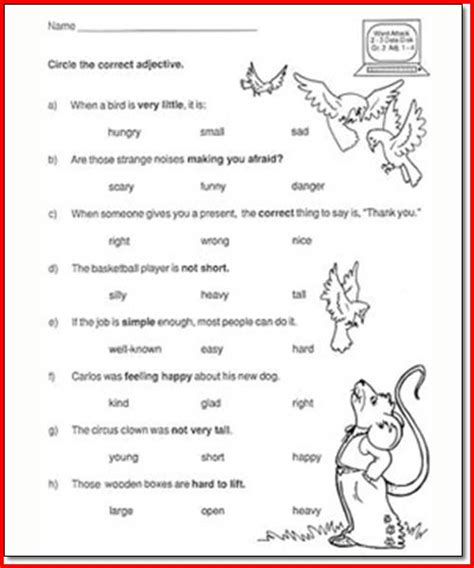 5th Grade Language Arts Worksheets by 2nd Grade Language Arts Worksheets Worksheets