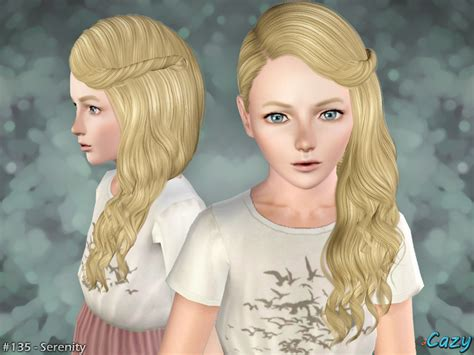 the sims 4 hair for female kids the sims resource cazy s serenity hairstyle child