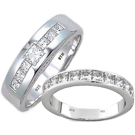 matching tungsten carbide wedding engagement