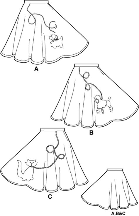 simple pattern for poodle skirt simplicity 5403 missess poodle skirts