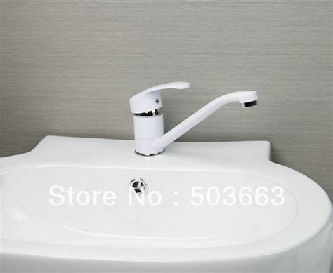Kitchen Sink Paint White Color Spray Painting Finish Kitchen Sink Brass Mixer Tap Swivel Faucet L 527 Spray Paint