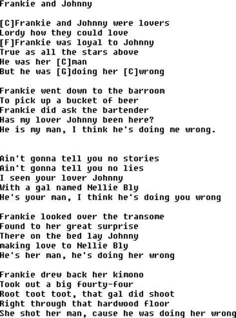 johnny song frankie and johnny song