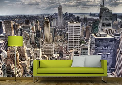 New York Skyline Wall Mural new york skyline giant wall murals