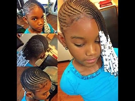 natural braided hairstyles for kids : for girls to look