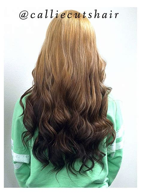 reverse ombre at home calliecutshair blonde to dark brown reverse ombr 233 hair