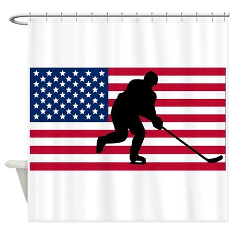 hockey shower curtain hockey american flag shower curtain by sportsflags