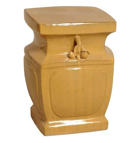 Yellow Orange Stool yellow orange inspired garden stool