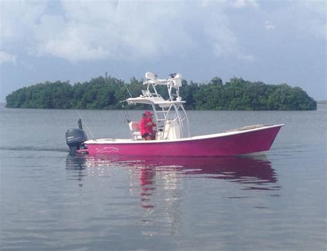 gause boats for sale florida gause built boat with custom pink paint scheme boca