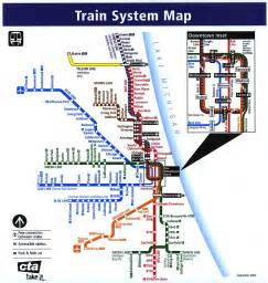 Chicago Public Transportation Map by Chicago Train System Map Chicago Mappery
