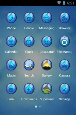 themes for android water water android theme for clauncher androidlooks com