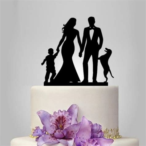 wedding cake topper with child and groom wedding cake topper with child cake