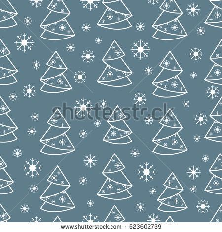 Origami Snowflake Pattern - winter seamless pattern tree origami stock
