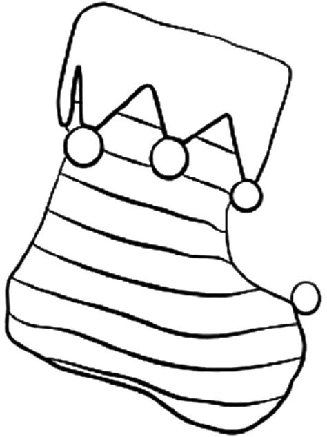 Coloring Page Stockings | coloring pages christmas stocking az coloring pages
