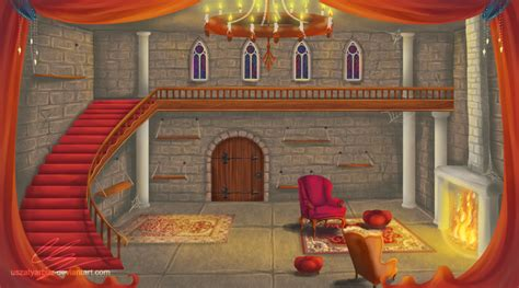Castle Room Background By Uszatyarbuz On Deviantart Castle Room
