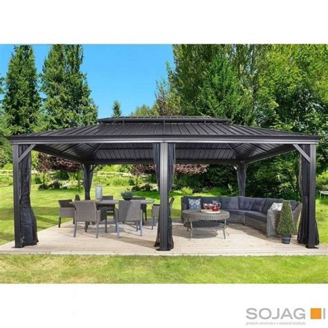 hardtop gazebo metal aluminum outdoor netting