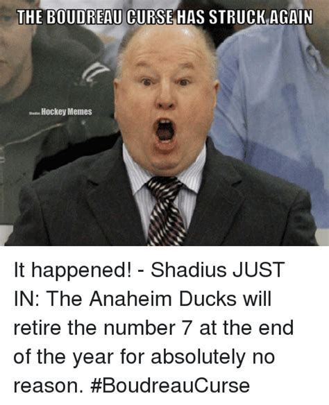 Anaheim Ducks Memes - the boudreau curse has struck again hockey memes it