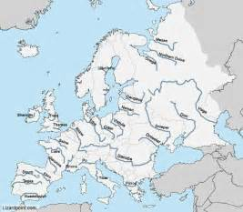 Rivers Of Europe Map by European Rivers Map Of Europe Rivers Map Of Rivers In