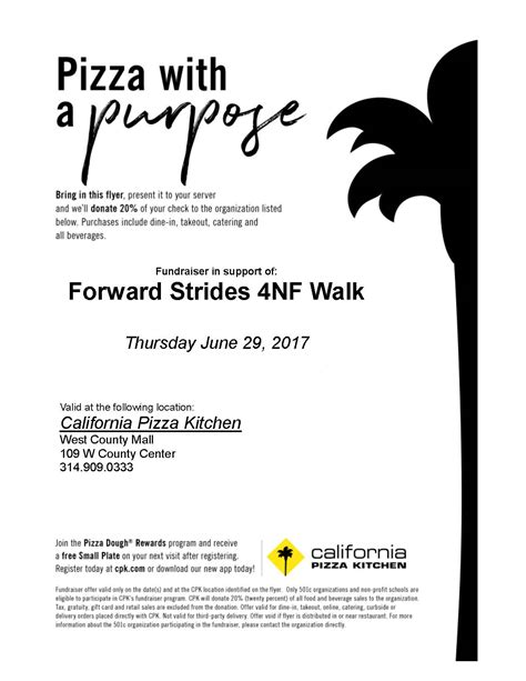 pizza with a purpose neurofibromatosis nf center