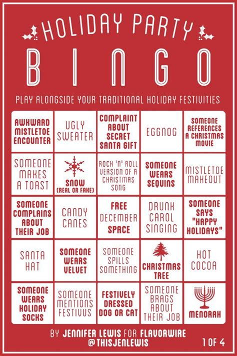 holiday party bingo neatorama