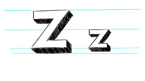 Letter Z Drawing by How To Draw 3d Letters Z Uppercase Z And Lowercase Z In