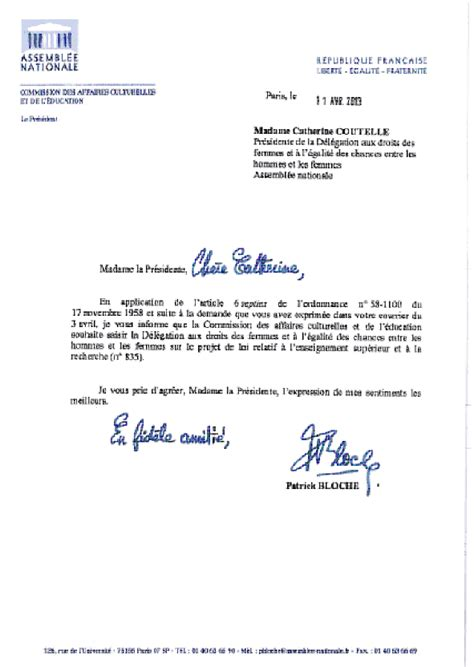 Demande De Nomination Lettre Application Letter Sle Modele De Lettre Demande De Nomination