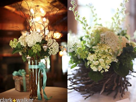 adrena s blog beautiful hydrangea and rose centerpieces