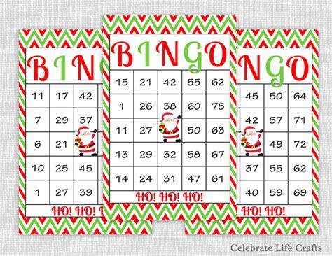 free printable christmas bingo cards numbers 100 christmas bingo cards diy printable by celebratelifecrafts