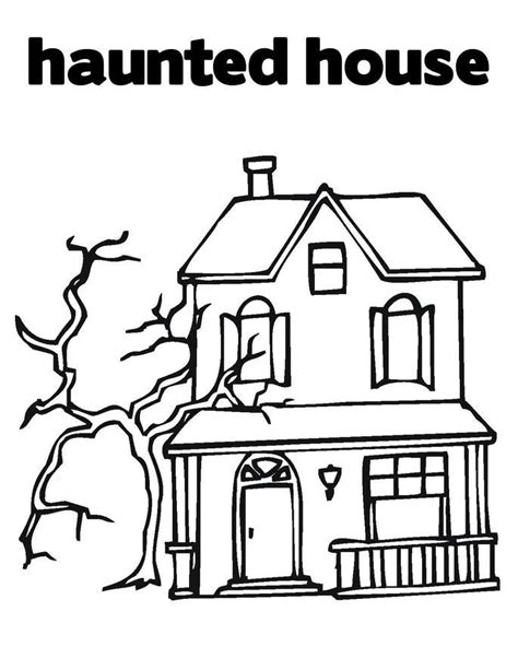 printable coloring pages of haunted houses cartoon haunted house coloring page az coloring pages