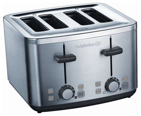Brushed Steel Toaster Calphalon Brushed Stainless Steel 4 Slice Toaster