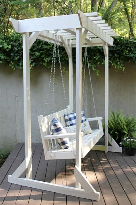 pergola porch swing porch swing with pergola buildsomething com
