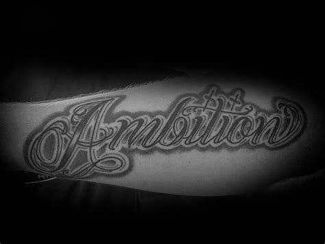 ambition tattoos 30 ambition design ideas for word ink ideas