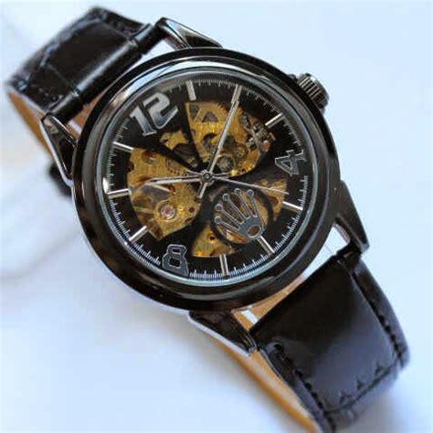 Rolex Matic Sabit Black Gold casio g shock kw jam rolex matic tanpa baterei